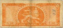 5 Dollars ÉTHIOPIE  1966 P.26a B+