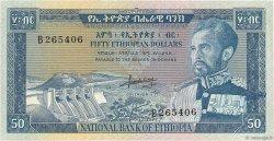 50 Dollars ÉTHIOPIE  1966 P.28a TTB+