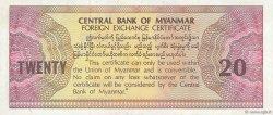 20 Dollars MYANMAR  1993 P.FX04 SPL