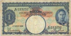 1 Dollar MALAYA  1941 P.11 B+
