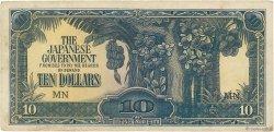 10 Dollars MALAYA  1942 P.M07b TB