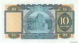 10 Dollars HONG KONG  1972 P.182g TTB+