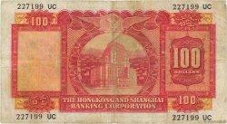 100 Dollars HONG KONG  1959 P.183a pr.TB