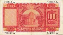 100 Dollars HONG KONG  1964 P.183a TTB