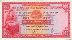 100 Dollars HONG KONG  1966 P.183b TTB
