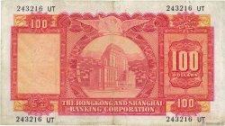 100 Dollars HONG KONG  1966 P.183b pr.TB