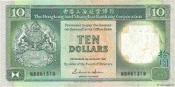 10 Dollars HONG KONG  1987 P.191a TB