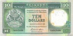 10 Dollars HONG KONG  1988 P.191b TTB
