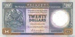 20 Dollars HONG KONG  1986 P.192a TTB+