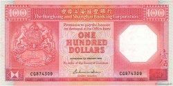 100 Dollars HONG KONG  1986 P.194a TTB