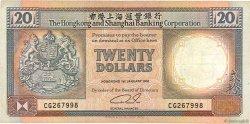 20 Dollars HONG KONG  1991 P.197b TB