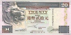 20 Dollars HONG KONG  2002 P.201d TTB