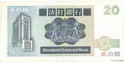20 Dollars HONG KONG  1992 P.279b TTB