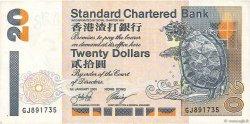 20 Dollars HONG KONG  2001 P.285c TTB