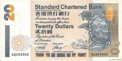 20 Dollars HONG KONG  2002 P.285d TTB