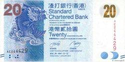 20 Dollars HONG KONG  2010 P.297a TTB