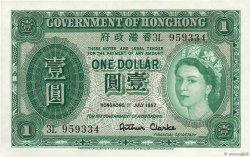 1 Dollar HONG KONG  1957 P.324Ab SPL