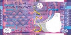 10 Dollars HONG KONG  2002 P.400a TTB