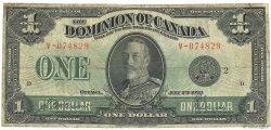 1 Dollar CANADA  1923 P.033f B+