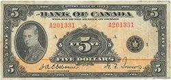 5 Dollars CANADA  1935 P.042 TB