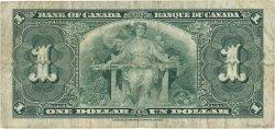1 Dollar CANADA  1937 P.058e TB