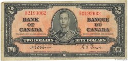 2 Dollars CANADA  1937 P.059a B+
