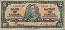 2 Dollars CANADA  1937 P.059c B+