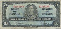 5 Dollars CANADA  1937 P.060b B