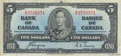 5 Dollars CANADA  1937 P.060c pr.TTB