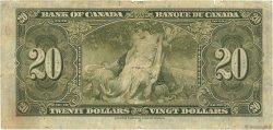 20 Dollars CANADA  1937 P.062b B+