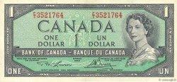 1 Dollar CANADA  1954 P.075d TTB