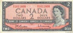 2 Dollars CANADA  1954 P.076b TTB