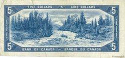 5 Dollars CANADA  1954 P.077b TB+