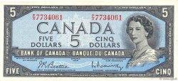 5 Dollars CANADA  1954 P.077b SPL