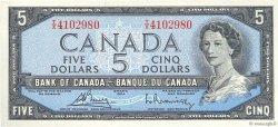 5 Dollars CANADA  1954 P.077c aUNC