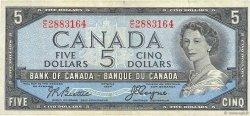 5 Dollars CANADA  1954 P.078 pr.TTB