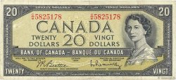 20 Dollars CANADA  1954 P.080b TB+