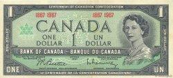 1 Dollar CANADA  1967 P.084a TTB
