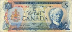 5 Dollars CANADA  1972 P.087b TB