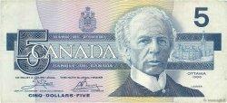 5 Dollars CANADA  1986 P.095a1 TB+