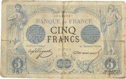 5 Francs NOIR FRANCE  1873 F.01.19 AB