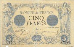 5 Francs NOIR FRANCE  1873 F.01.22 TTB