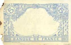 5 Francs BLEU FRANCE  1912 F.02.02 SUP