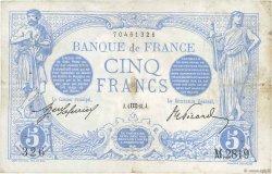 5 Francs BLEU FRANCE  1913 F.02.20 pr.TTB