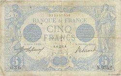5 Francs BLEU FRANCE  1915 F.02.34 B+