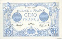 5 Francs BLEU FRANCE  1916 F.02.37 SUP+
