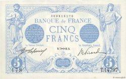5 Francs BLEU FRANCE  1916 F.02.45 SUP