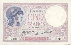 5 Francs VIOLET FRANCE  1932 F.03.16 SPL+