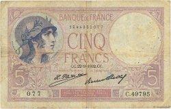 5 Francs VIOLET FRANCE  1932 F.03.16 B