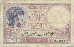 5 Francs VIOLET FRANCE  1933 F.03.17 B
